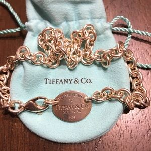 Return to Tiffany Oval Tag Necklace